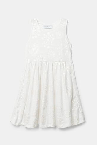 Dzianinowa sukienka z opalizującymi mandalami