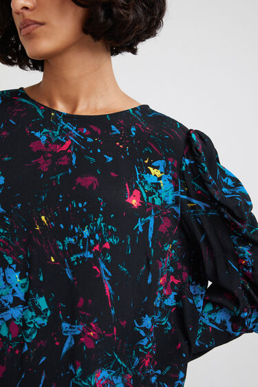 Blouse puffed sleeves | Desigual