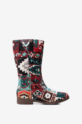 Ethnic Jacquard boots