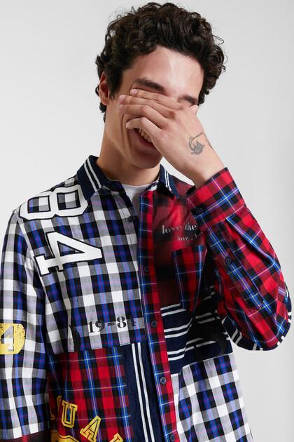 Tartan patch shirt