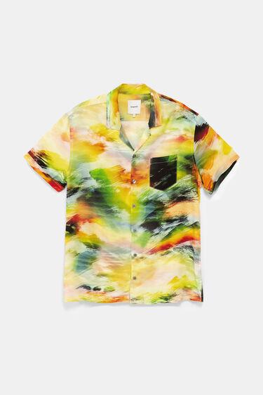 Koszula z psychodelicznym nadrukiem zachodu słońca | Desigual