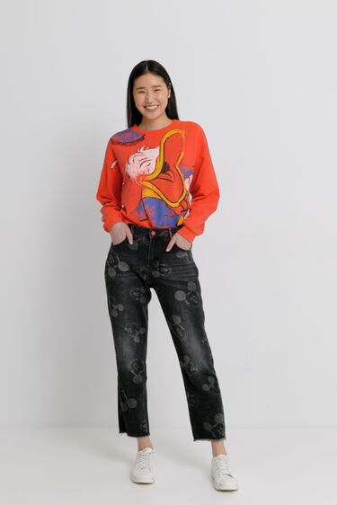Mickey Mouse boyfriend jeans | Desigual