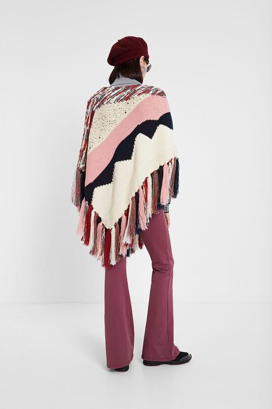 Knit patch poncho | Desigual