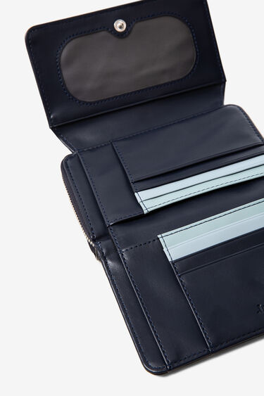 Niebieski patchworkowy portfel | Desigual