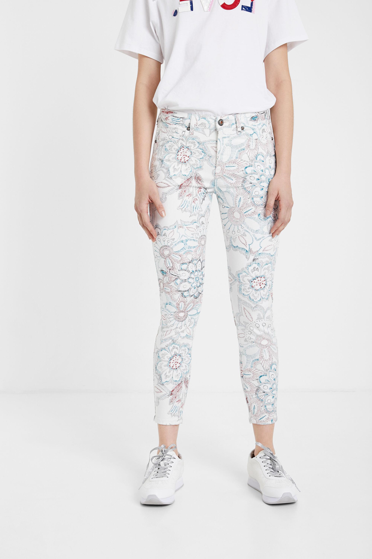 Pantaloni skinny floreali   Desigual