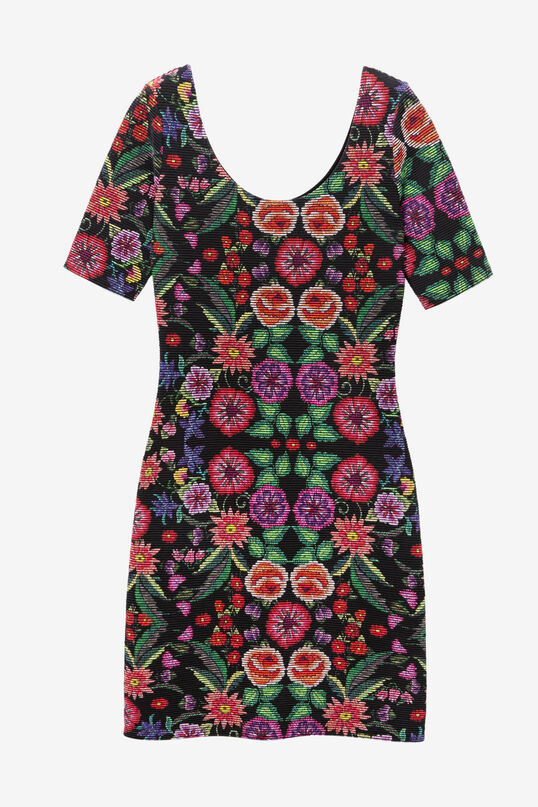Slimfit jurk gebloemd ottoman Garden | Desigual