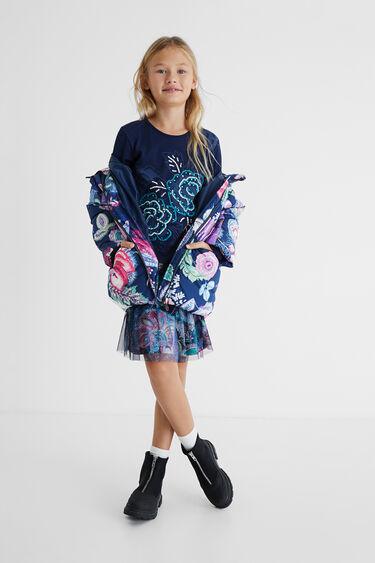 Kleid mit doppeltem Rock im 3-D-Look | Desigual