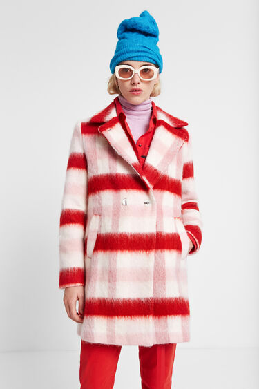 Double-breasted wool coat | Desigual
