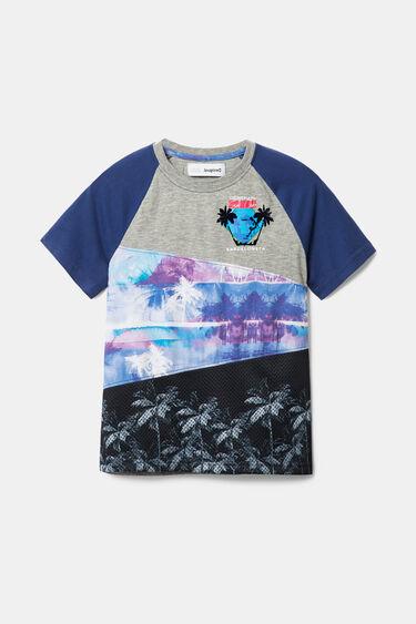 Camiseta patchwork estampado Hawái | Desigual