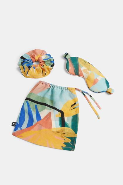 Printed hair tie-mask pack