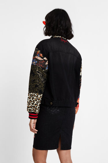 Patch sleeves denim trucker jacket | Desigual