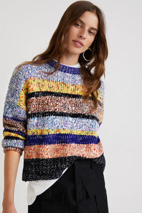 Pull tricot chiné