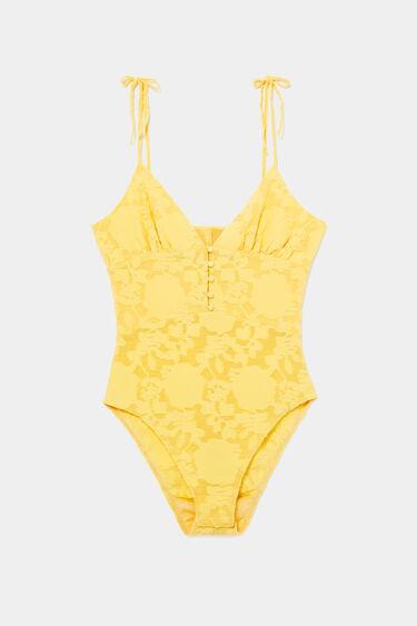 Embroidered bodysuit fine straps | Desigual