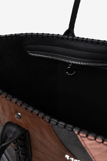 Shopping bag vertical zipper | Desigual