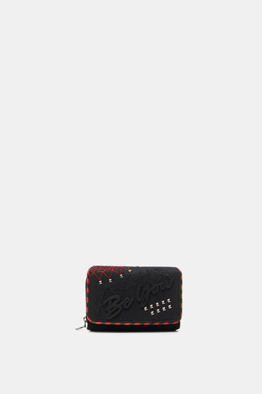 Coin purse embroideries message | Desigual