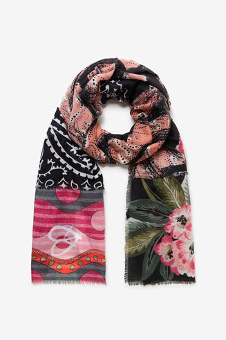 Foulard rectangular prints boho