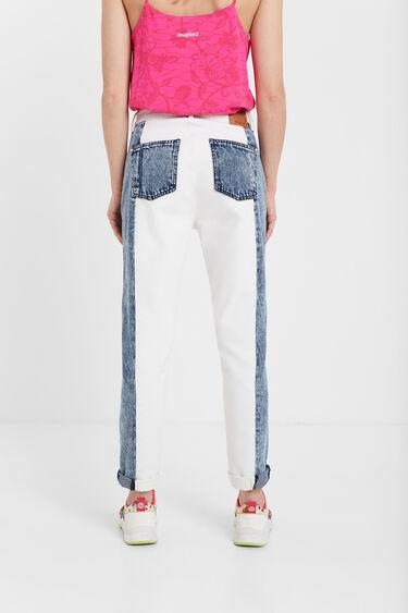 Zweifarbige Mum-Jeans | Desigual