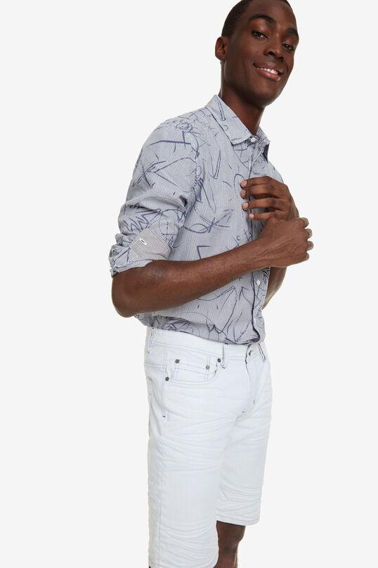 Faded Denim Bermuda Shorts Pablo | Desigual
