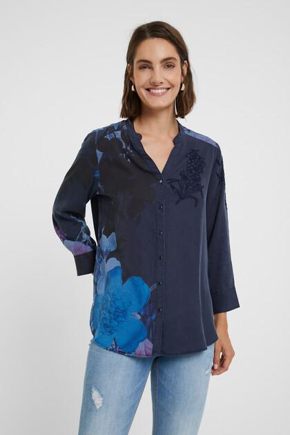 Gebloemd shirt van Tencel™