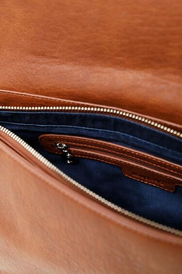 Schoudertasje met gegraveerde leatherlook | Desigual