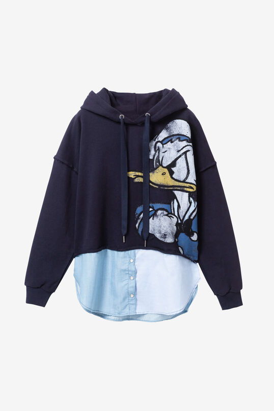 Sweat-shirt loose Donald Duck bleu | Desigual