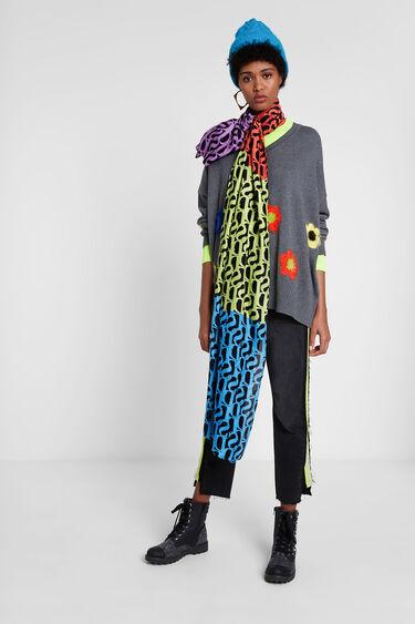 Rectangular logomania foulard | Desigual