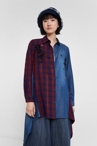 Denim tartan shirt