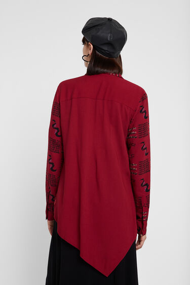 Asymmetric viscose shirt | Desigual