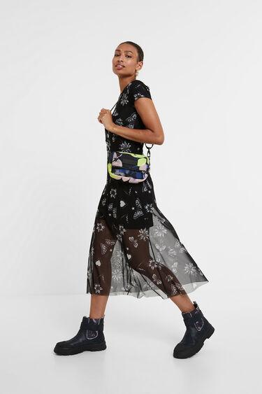 Blumiges Midi-Kleid | Desigual