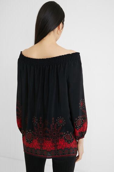 Boho blouse boat neck | Desigual