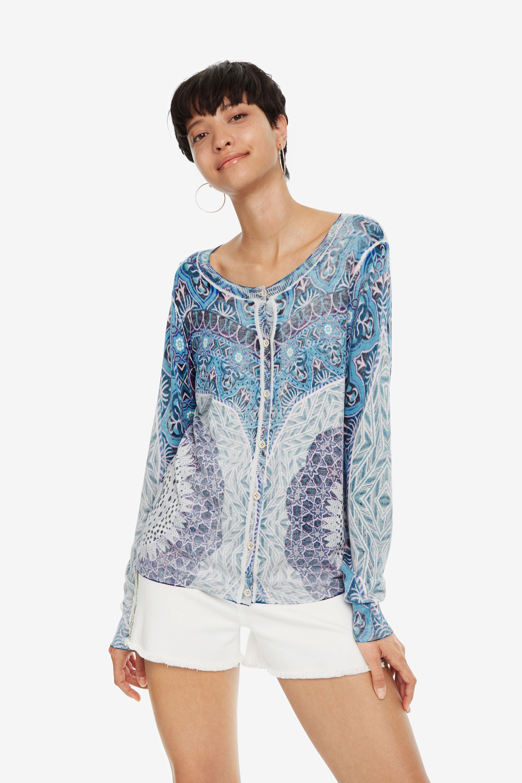 Giacca blu in maglia Adare | Desigual