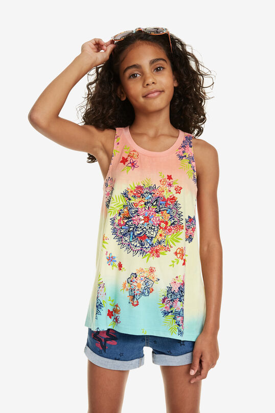 Sleeveless Trapezium T-shirt Wyoming | Desigual