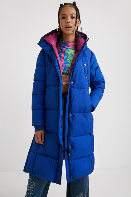 Straight padded coat