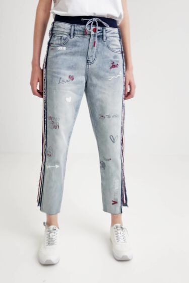 Pantalon en jean jogger hybride | Desigual