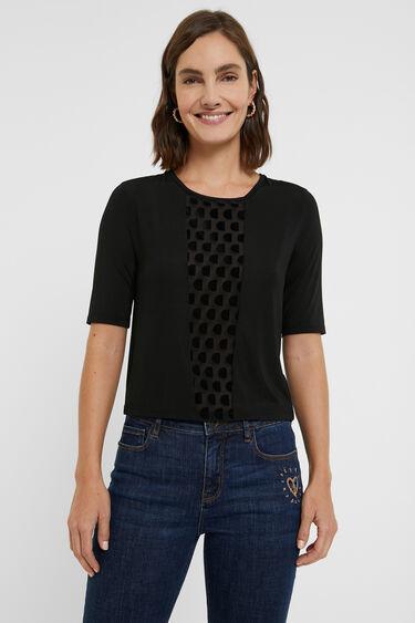 Slim fit T-shirt met monogram | Desigual