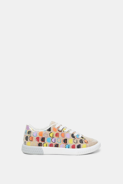 Reverse D canvas sneakers