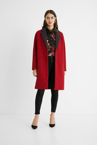 Manteau long tricot frises | Desigual