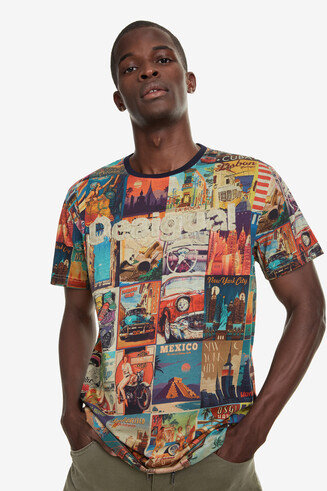 World post card T-shirt