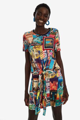 Postcards T-shirt dress