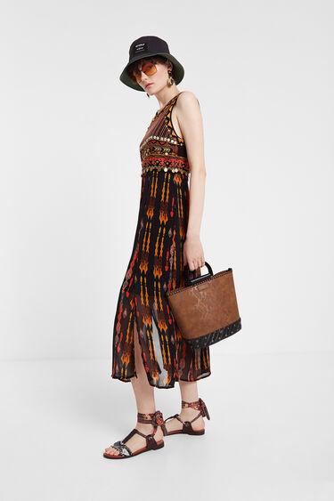 Vestito longuette stile africano | Desigual