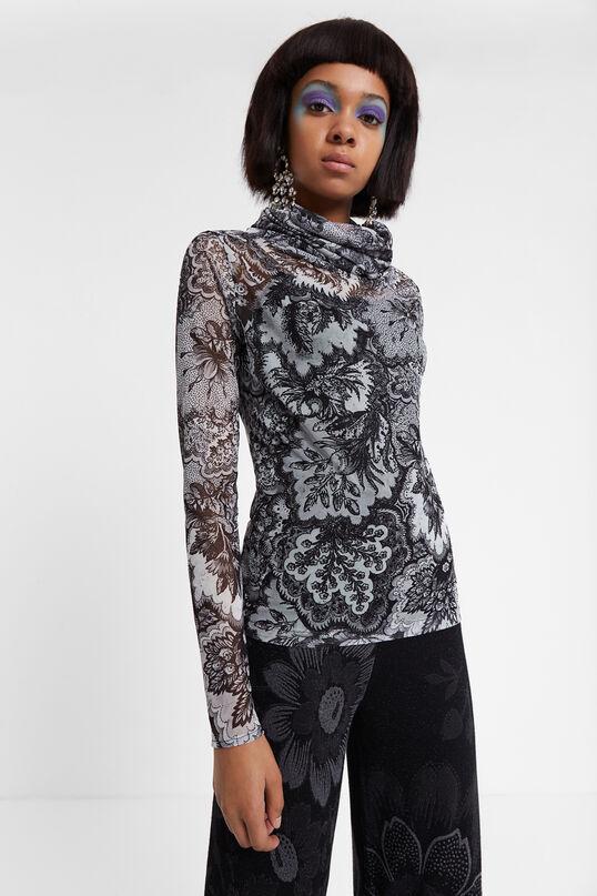 T-shirt ajusté semi-transparent Designed by M. Christian Lacroix | Desigual