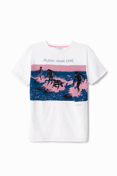 Surfer print T-shirt   Desigual
