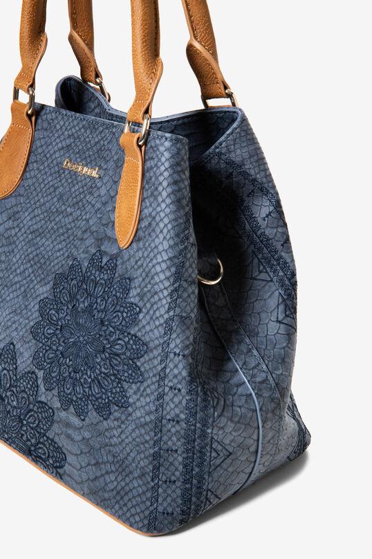 Tasche in Reptillederoptik Mandala | Desigual