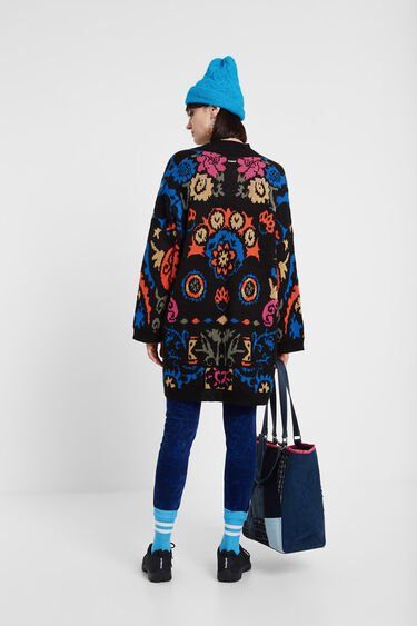 Open front jacket with belt | Desigual