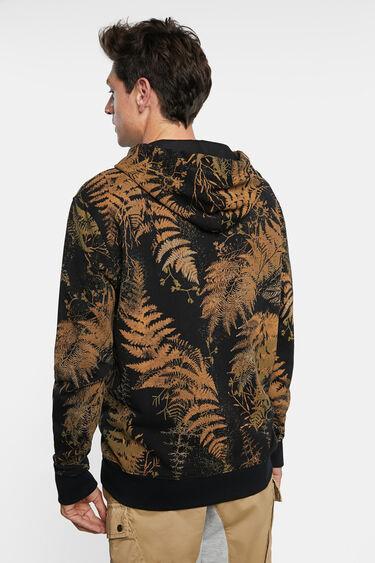 Sweatshirt jacket plush hood | Desigual