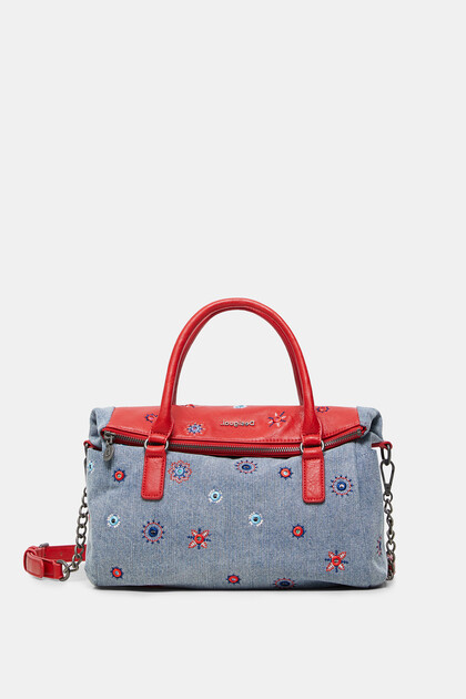 Handbag cotton embroidered