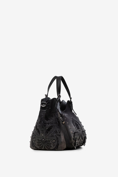 Floral embossed shoulder bag | Desigual