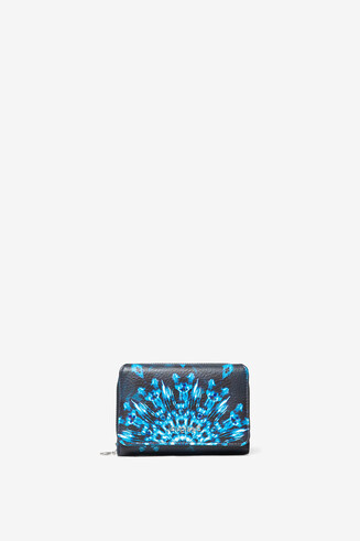 Blue mandalas coin purse
