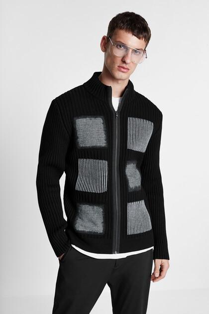 Chunky knit jacket