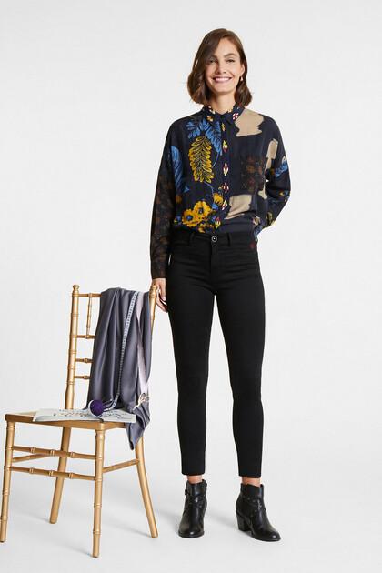 Gemustertes Oversize-Bluse